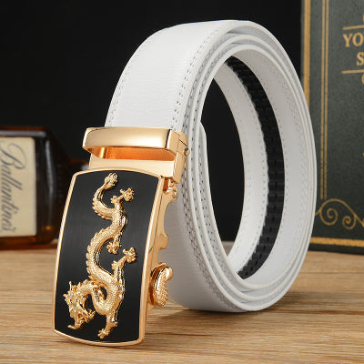 Fashion Mens Luxury Automatic Buckle Belts Men White Solid High quality luxury design belt men
