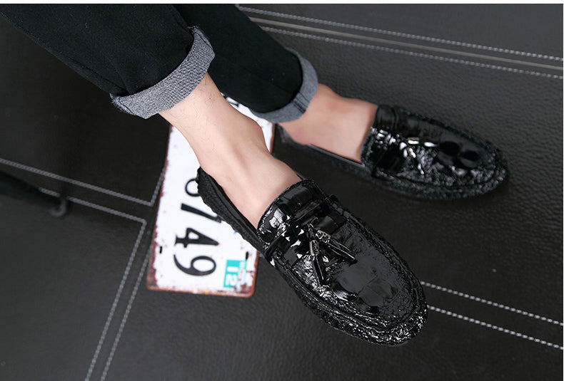 Fashion Tassel Casual Men Shoes LeatherBreathable Dress Men Loafers