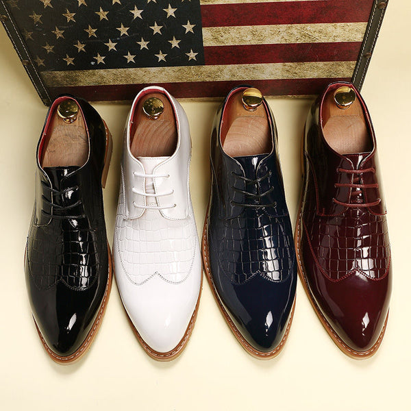 New Luxury Brand Men Shoes Men's Flats Business Dress Shoes Lace-up Classic Oxford Shoes For Men