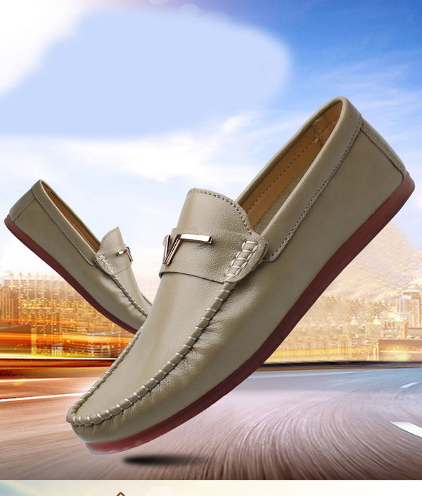 Fashion Summer Soft Moccasins Men Loafers Genuine Leather Sandal Shoes Men Soft Bottom Comfortable Driving Shoes