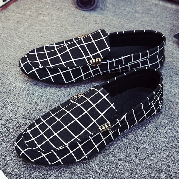 Fashion Men Flats Shoes Genuine Leather Men Loafers Moccasins Slip Lazy Shoes