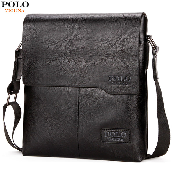 POLO Vintage Fashion Mens Leather Bag Brand  High Quality New Mens Travel