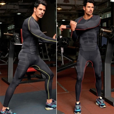 Casual compression tights men exercise sweatpants fitness men stretch dry quick pants joggers men track sweat pants