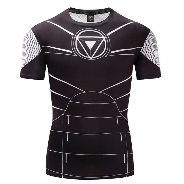 Compression Shirt Superman 3D Printed T-shirts Men 2017 Summer Fitness Male Quick Dry Bodybuilding Crossfit Tops