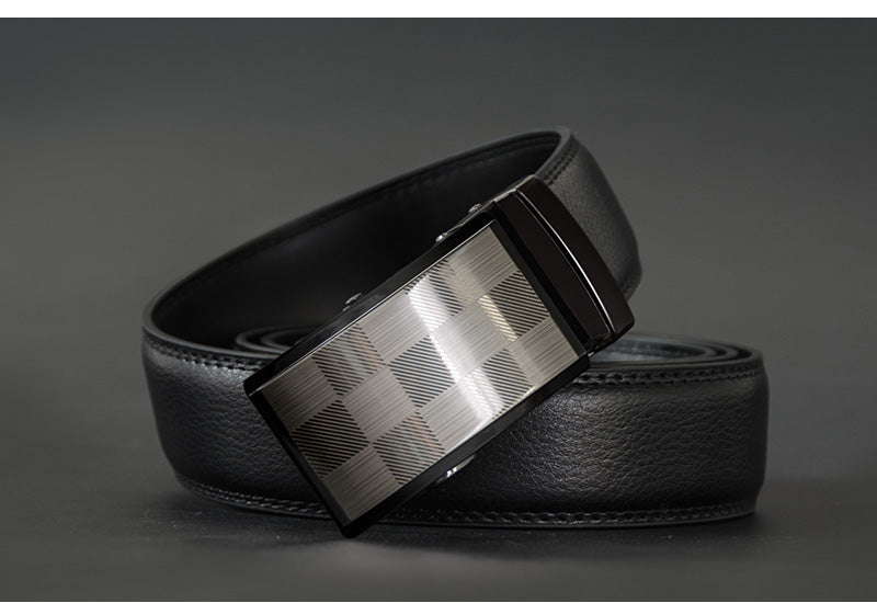 ATHER High Quality  Genuine Leather Men Belt  Male Strap Automatic Buckle Belts Fashion New Alloy Buckle Men Straps