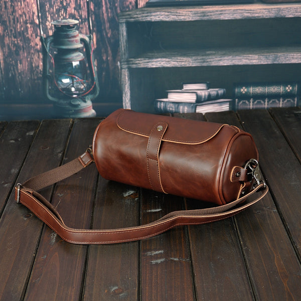 Fashion Men Shoulder Bag Men's Messager Bags PU Leather High Quality Male Crossbody Bags  Shoulder Bucket Bag