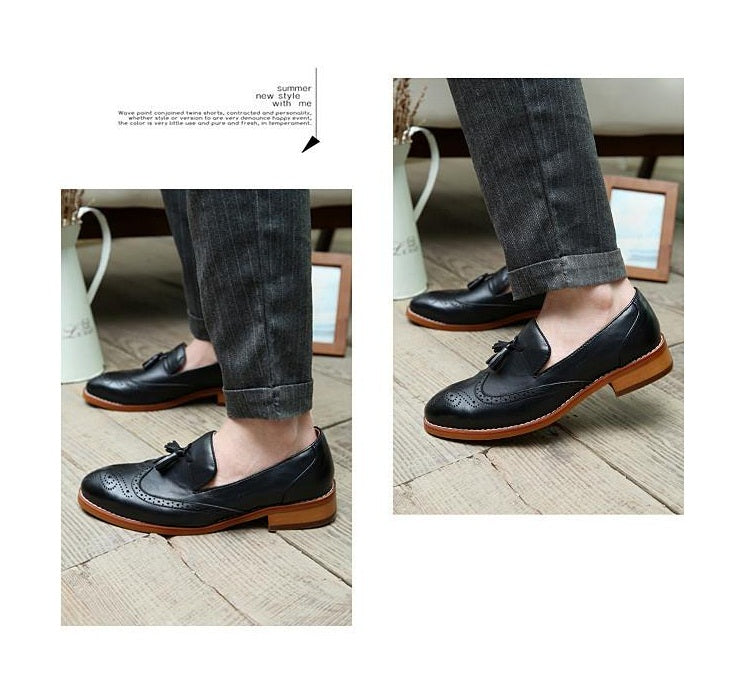 Mens Casual Pointed Leather Shoe