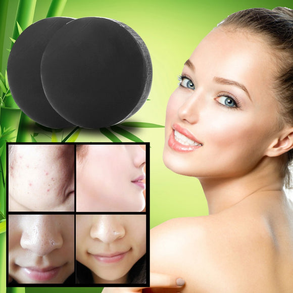 40g Charcoal Crystals Handmade Face Whitening Soap For Remove Blackhead and Oil Control