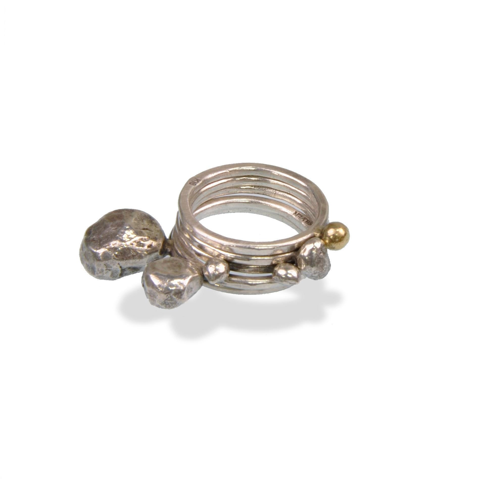 5set Silver Dot Ring