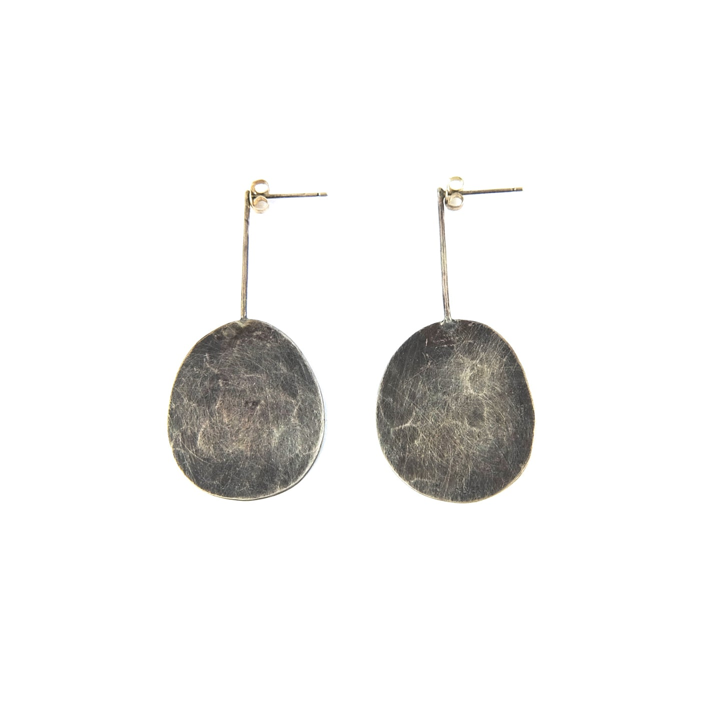 Silver Round Flat Earring