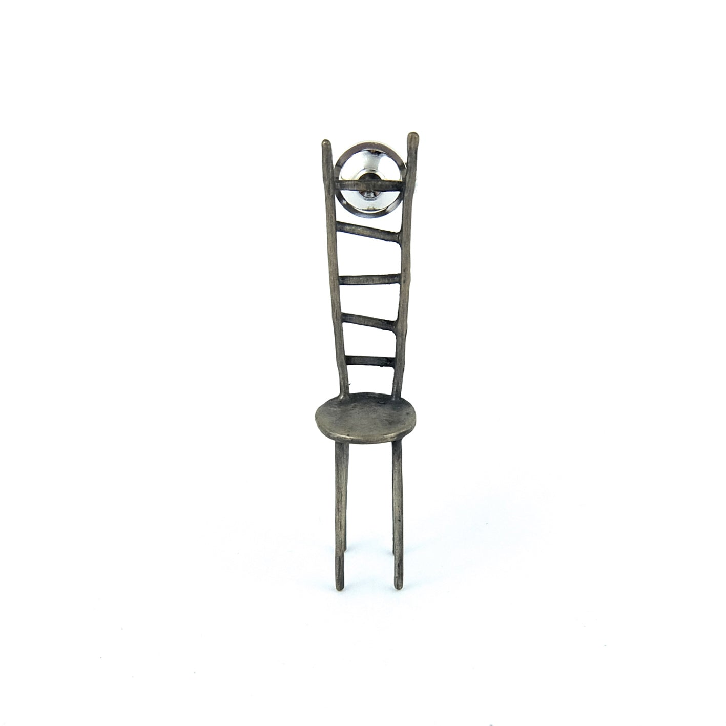 Silver Chair Pin