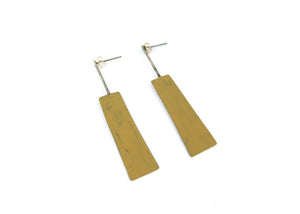 Yellow Square Earring