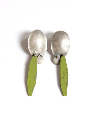 Green Dangling Earring