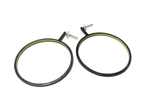Line Earring -Circle-