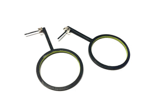 Line Earring -small circle -