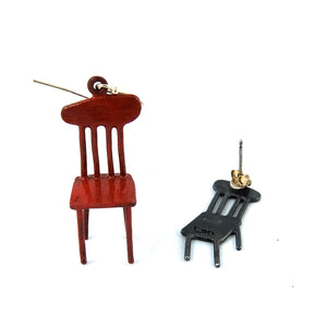 Line Chair with Shadow Earring