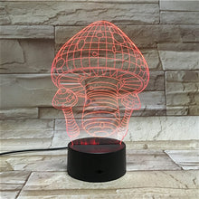 3D Mushroom Illusion Led Lamps