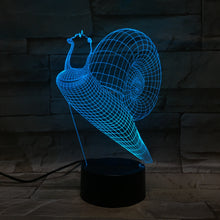 3D Snail Illusion Led Lamps