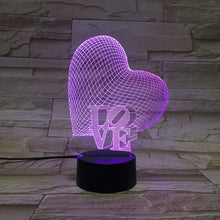 3D Heart Illusion Led Lamps