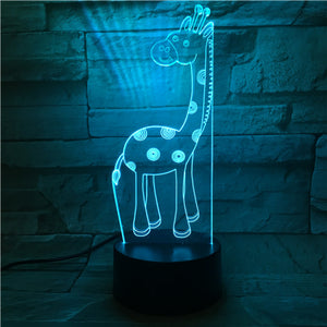 3D Giraffe Illusion Led Lamps