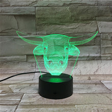 3D Bulls Illusion Led Lamps