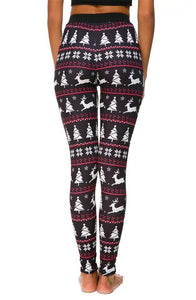 Wholesale New Hot Selling Printed Christmas Fashion Women Legging - Mix Colors