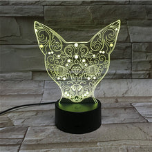 3D Fox Illusion Led Lamps