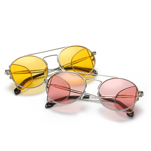 Designer Inspired Oversize Round Open Temple Frame High Fashion Sunglasses - Mix Colors