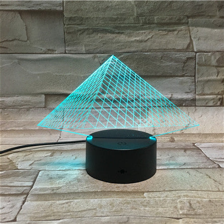 3D Pyramids Illusion Led Lamps