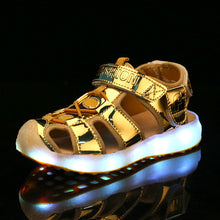 Light Up Led Sandals - Gold
