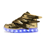 New Flying Kids Led Shoes - Gold