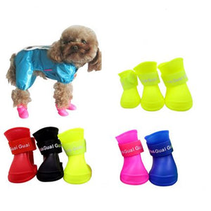 Wholesale Dog Candy Shoes Waterproof Booties Rubber Shoes Pet Rain Shoes - All Color