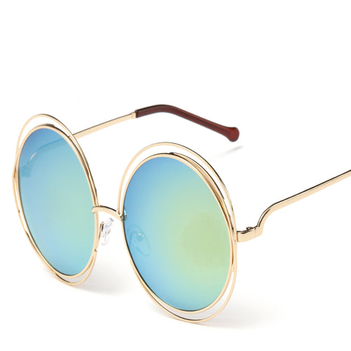 Round Thin Lightweight Cutout Tip Sunglasses - Mix Colors