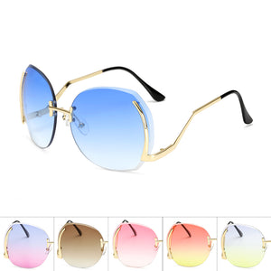 Womens Wholesale Trendy Hipster Plastic Aviator Sunglasses - Mix Colors