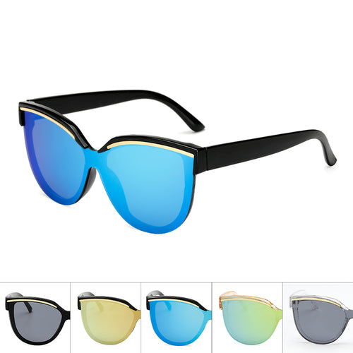 Wholesale Hipster Tear Drop Cat Eye Lens Plastic Sunglasses  - Mix Colors