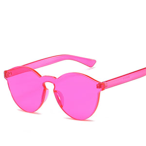 Geometric Cat Eye Silhouette Contemporary Sunnies - Mix Colors