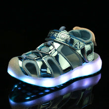 Light Up Led Sandals - Green