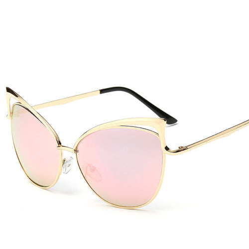 Full Coverage Retro Chic Clear Cat Eyes Sunglasses - Mix Colors