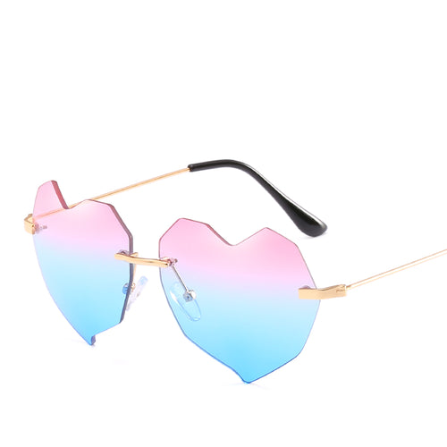Cute Adorable Heart Shape Sunglasses - Mix Colors