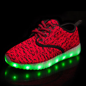 New Style Yeezy Led Kids Shoes - Red
