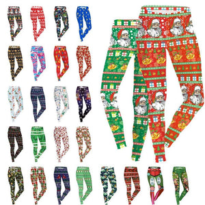 New Arrival Christmas Printed Women Legging - Mix Colors