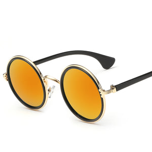 Lennon Inspired Colorful Lens Retro Round 50mm Metal Sunglasses - Mix Colors