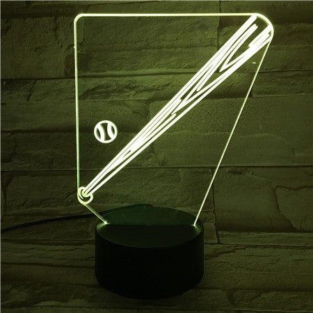 3D Baseball Illusion Led Lamps