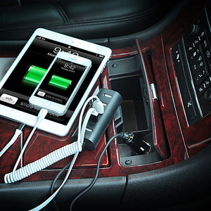 5 USB Ports Vehicle Car Charger 6.0A
