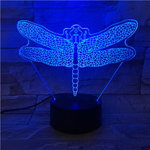 3D Dragonfly Illusion Led Lamps