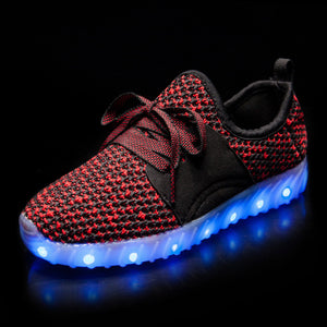 New Arrival Kids yeezy Led Shoes - Red