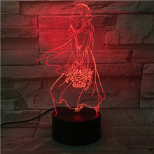 3D Snow White Illusion Led Lamps
