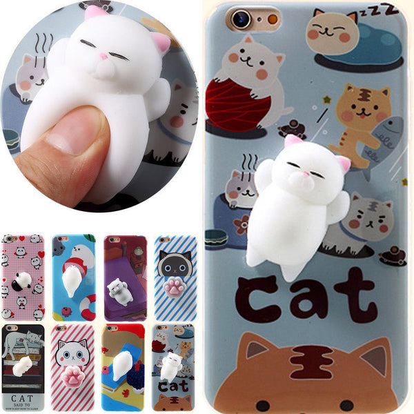 3D Soft Silicone Poke Squishy Phone Cases Mix Styles - All Models