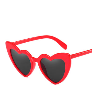 Lovestruck High Tip Cute Heart Sunglasses - Mix Colors