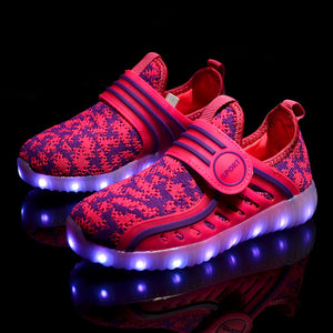 New Kids Yeezy Led Shoes - Hot Pink